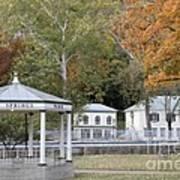 Berkeley Springs Bandstand In West Virginia Art Print