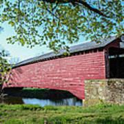 Berks Courty Pa - Griesemer's Covered Bridge Art Print