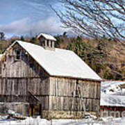 Berkshire Barn In Winter Art Print