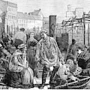 Berlin Fish Market, 1874 Art Print