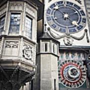 Berne Famous Clock Art Print by Mesha Zelkovich