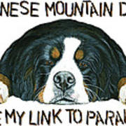 Bernese Mountain Dog Paradise Art Print