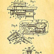 Berninger Reprojecting Ball Bumper Patent Art 1967 Art Print
