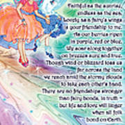 Berry Fairy Friends Poem Art Print