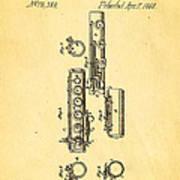Berteling Flute Patent Art 1868 Art Print