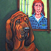Bloodhound - Bervil And Blue Art Print