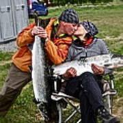 Besame Mucho . Salmon Love Story. Print by  Andrzej Goszcz