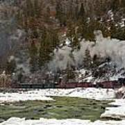 Beside The Animas River Art Print
