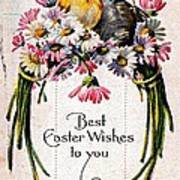 Best Easter Wishes To You 1909 Vintage Postcard Art Print