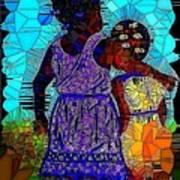 Best Friends Mosaic Art Print