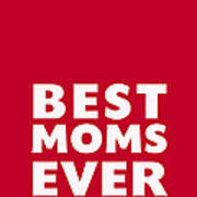 Best Moms Card- Red- Two Moms Mother's Day Card Art Print