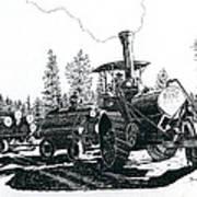 Best Steam Traction Engine Art Print