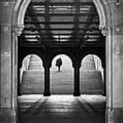 Bethesda Underpass At Central Park In New York City Art Print by Ilker Goksen