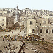 Bethlehem Manger Square 1900 Art Print