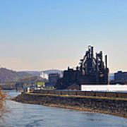 Bethlehem Steel And The Lehigh River Art Print