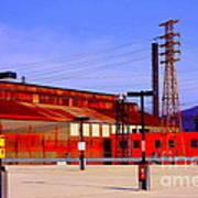 Bethlehem Steel Buildings Art Print