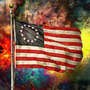 Betsy Ross Flag Art Print by Steven Michael