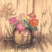 Betsy's Flowers 2 Art Print