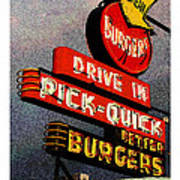 Better  Burgers Art Print by Gail Lawnicki