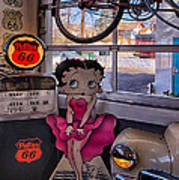 Betty Boop At Albuquerque's 66 Diner Art Print