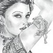 Beutiful Indian Actress Art Print
