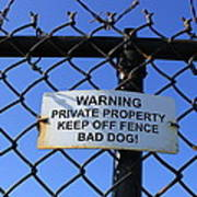 Beware Sign Art Print