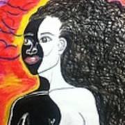 Bi-racial Art Print