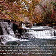 Bible Verse And Inspirational Greeting Card Autumn Fine Art Photography Prints And Posters. Art Print