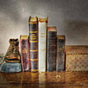 Bibles And Hymnbooks Art Print by David and Carol Kelly