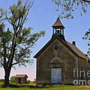 Bichet School In Marion County In Kansas Art Print