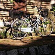 Bicycle And Baskets Kyoto - Philosophers' Walk Art Print