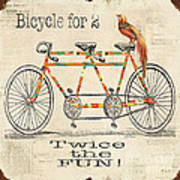 Bicycle For 2 Art Print
