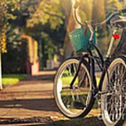 Bicycle On Sunny Street Art Print