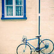 Bicycle On The Streets Of Old Quebec City Art Print