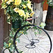 Bicycle Plant Holder Art Print