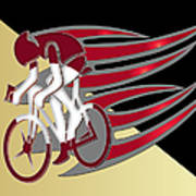 Bicycle Rider 01 Art Print