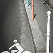 Bicycle Symbol In Paris Art Print