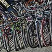 Bicycles For Rent Art Print