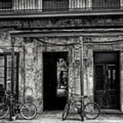 Bicycles On Posts Art Print