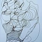 Biding Time - Doodle Art Print