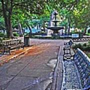 Bienville Square And The Bench 2 Art Print