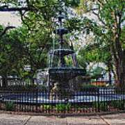 Bienville Square Fountain Closeup Art Print