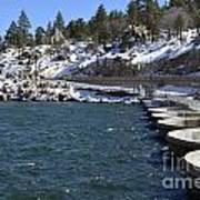 Big Bear Dam - California Art Print