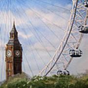 Big Ben And The London Eye Art Print