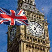 Big Ben And Union Jack Art Print