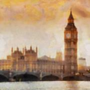 Big Ben At Dusk Art Print