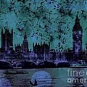 Big Ben On The River Thames Art Print