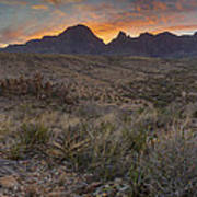 The Window View Of Big Bend National Park At Sunrise Art Print