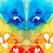 Big Blue Love - Visionary Art By Sharon Cummings Art Print