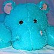 Big Blue Teddy Art Print